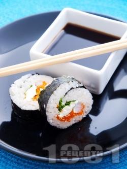 Суши Футо Маки със скариди и зеленчуци - снимка на рецептата